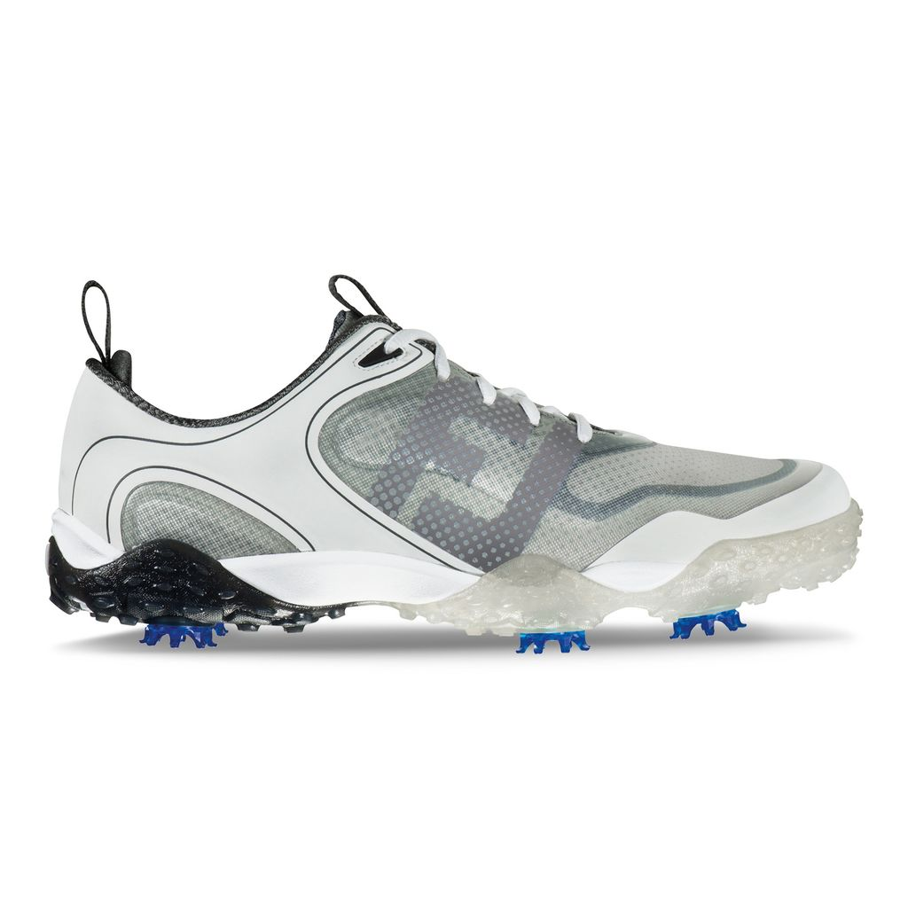 "A lightweight mesh upper and supple rubber outsole team up with FootJoy's softest-ever midsole. The result? Your feet can move with freedom! The waterproof shoe has extra heel padding and a tackified tongue to help overall fit. With FootJoy's Performance fitting system, you can match your swing to shoe type -- from most flexible (""mobile""), like the FreeStyle, to stiffest (""structured"") -- and even boost swing speed.  BUY NOW"