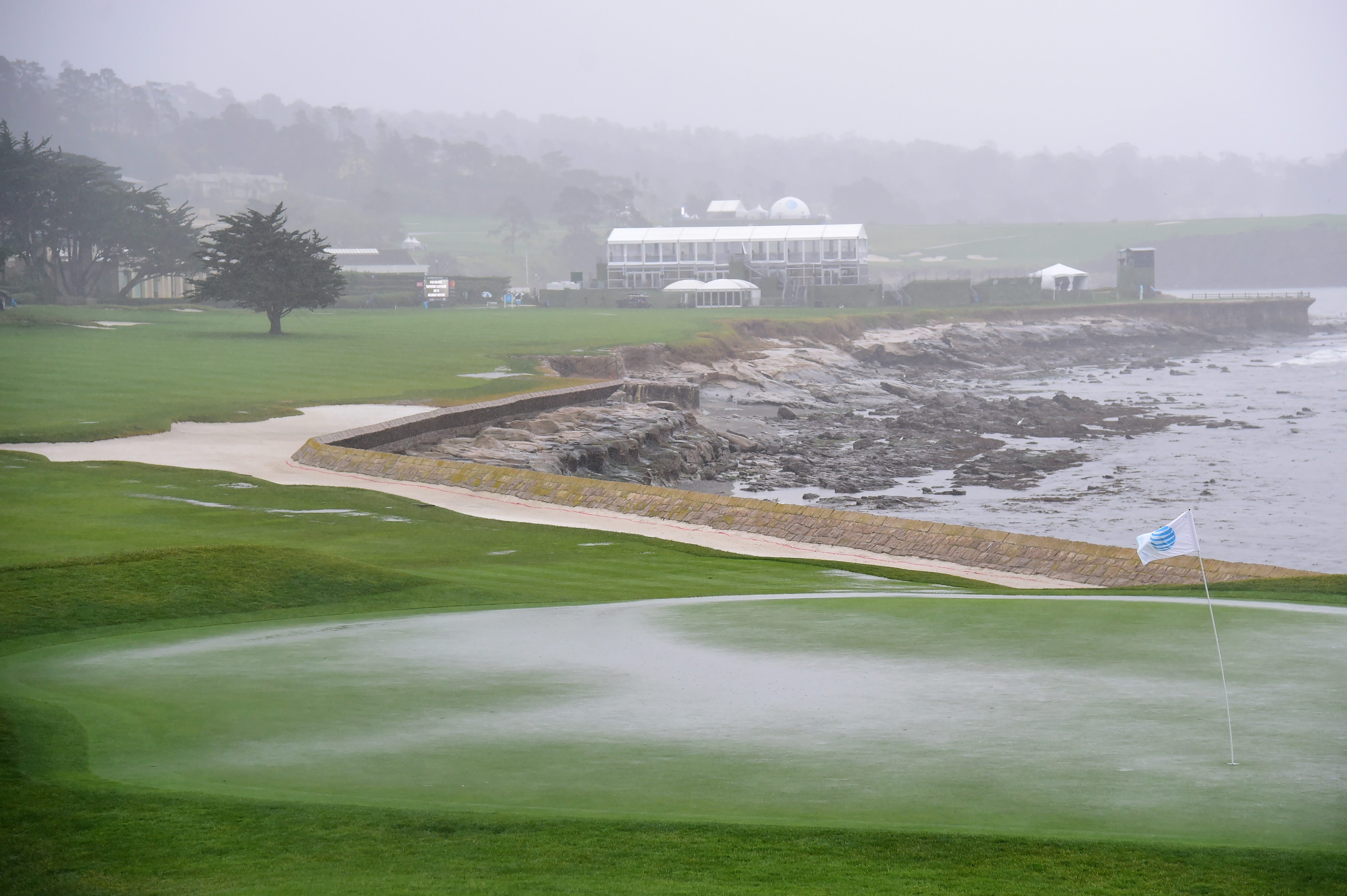 A look at Pebble Beach Thursday during the first round of the AT&T Pebble Beach Pro-Am.