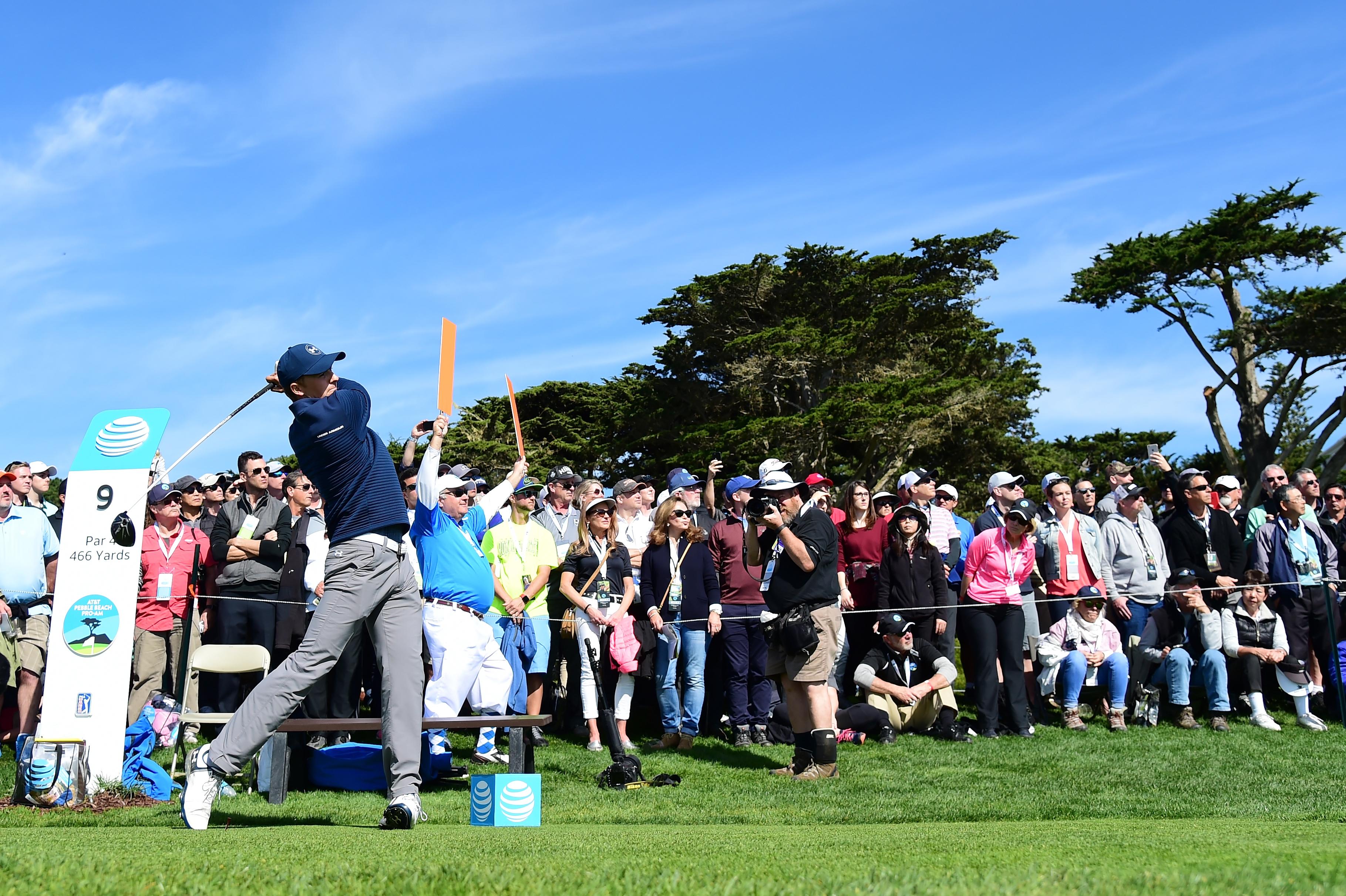 Jordan Spieth picked up PGA Tour victory No. 9 on Sunday at Pebble Beach Golf Links.