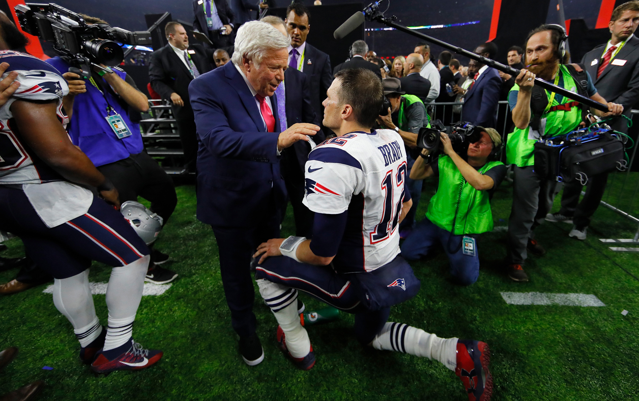 Brady and Patriots owner Robert Kraft have formed a bond that extends past football.
