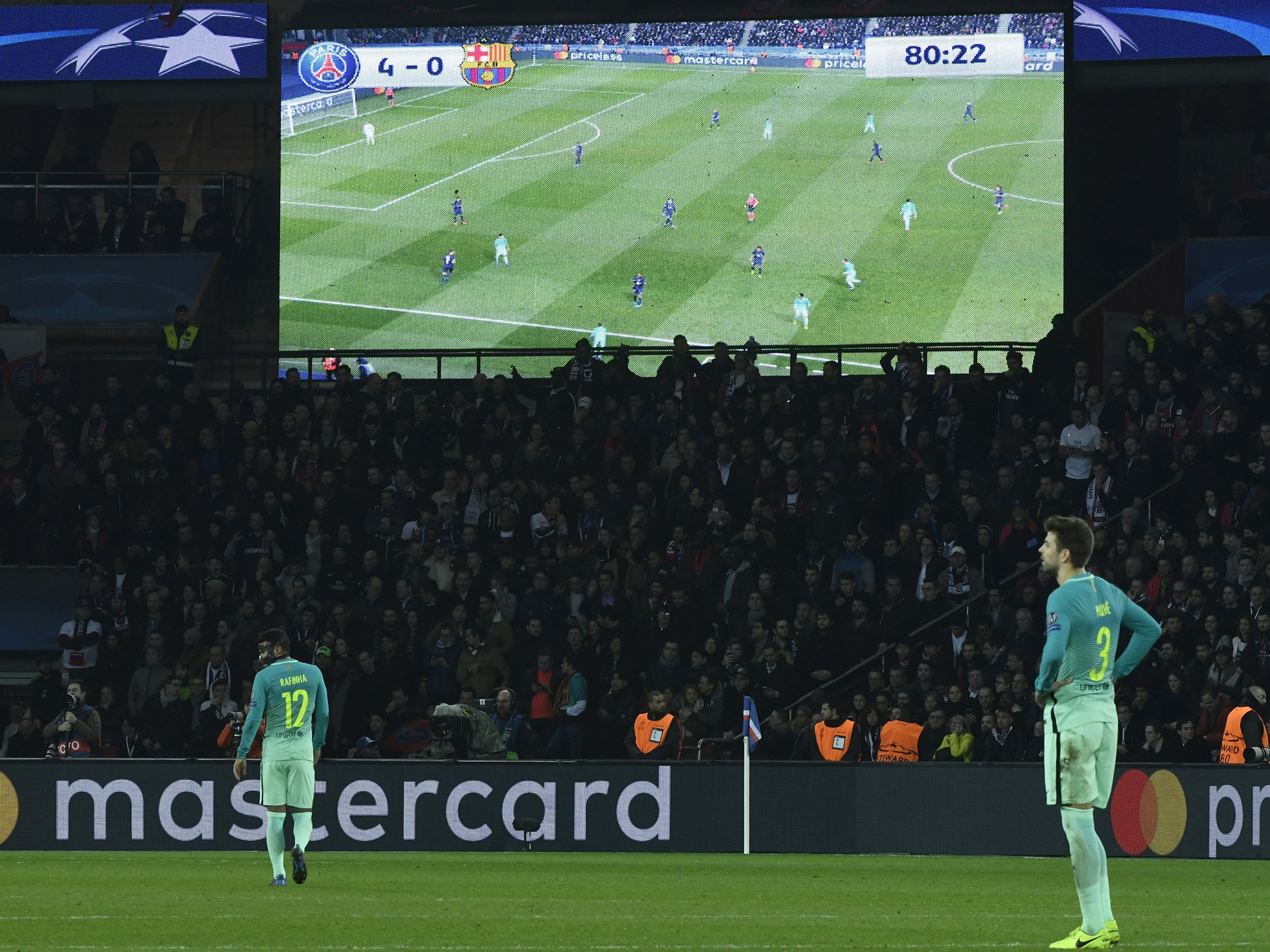 Barcelona gets thrashed by PSG in Champions League