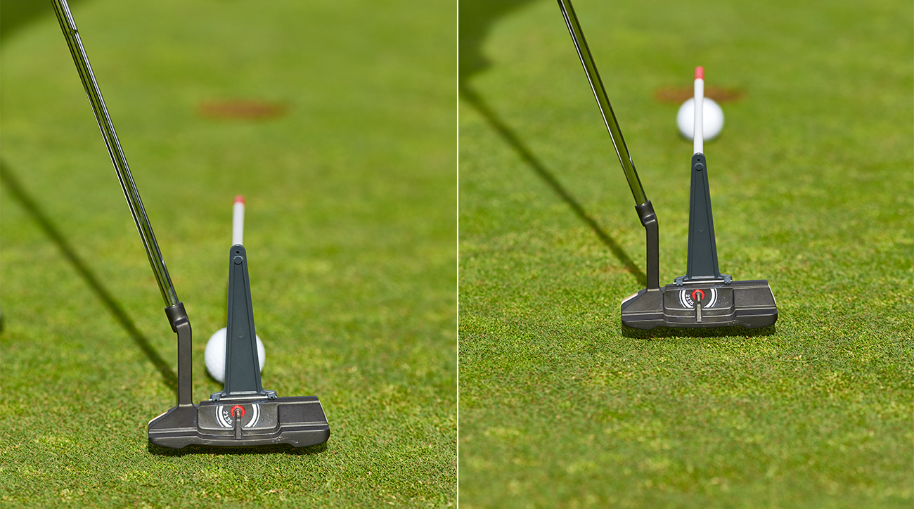 A straight back-and-through motion makes timing your putts easy.