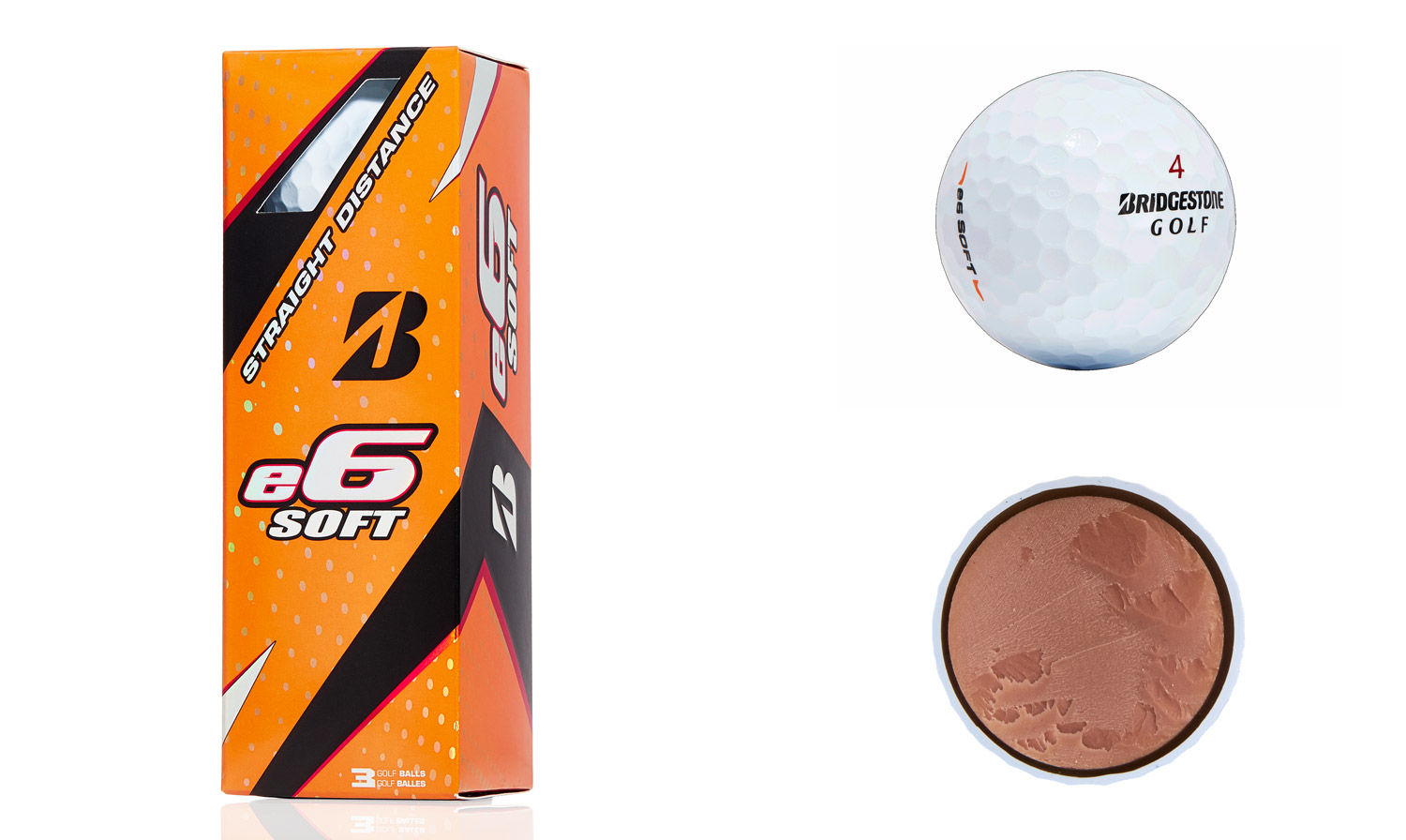 Bridgestone e6 Soft golf balls.