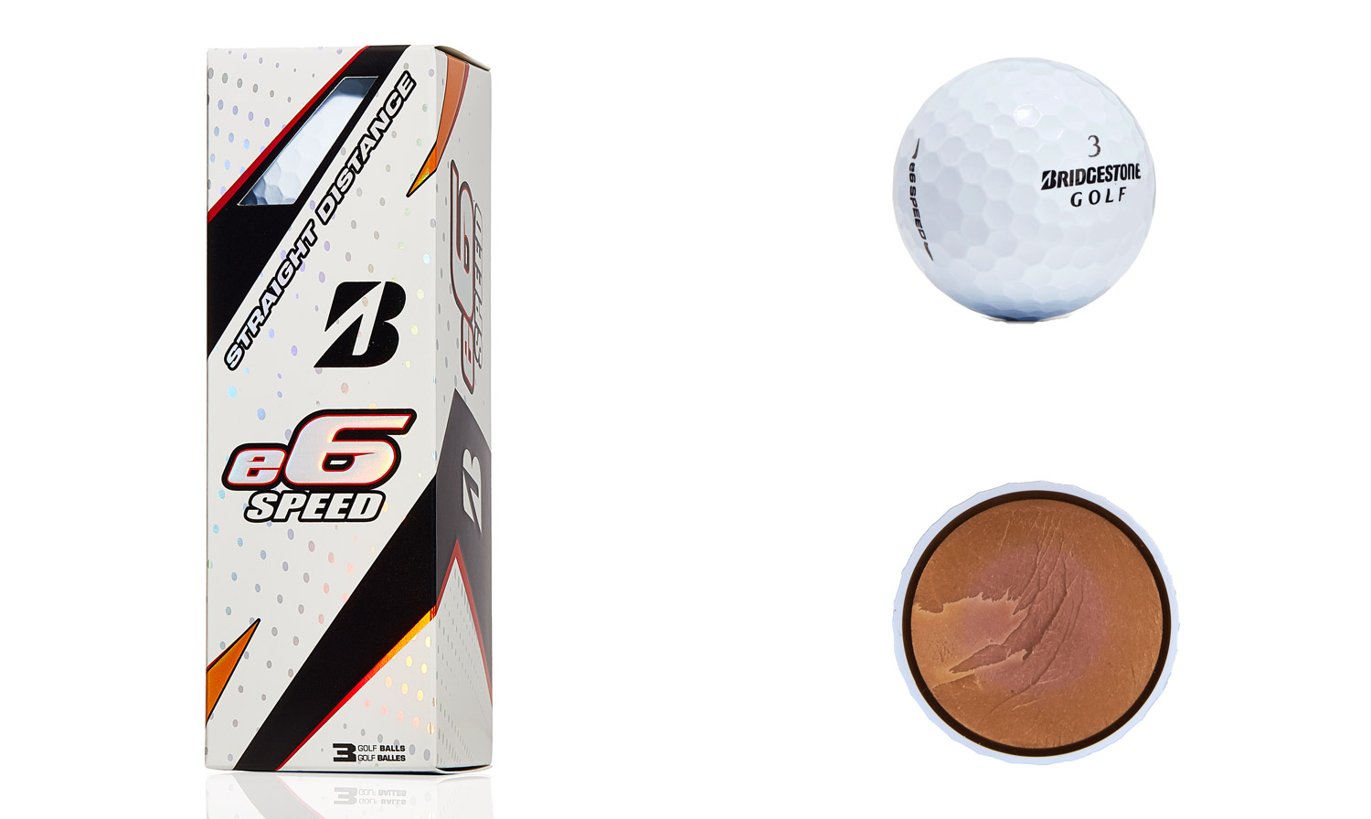 Bridgestone e6 Speed golf balls.