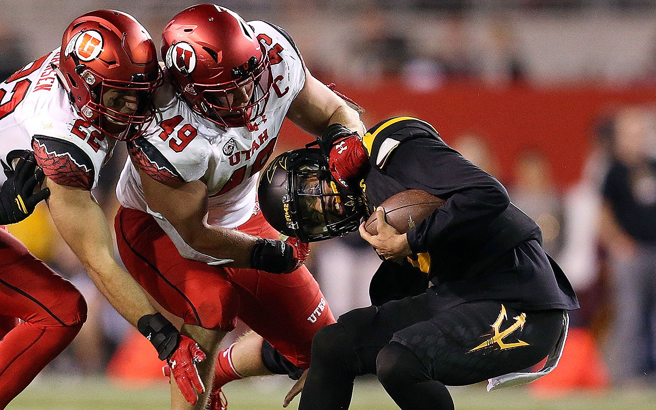 Dimick ranked third in the country and first in the Pac-12 with 13.5 sacks this season. He had 28.5 (and 42.5 tackles for loss) during his four-year Utah career. Dimick is a high-motor player who was among the best prospects invited to this season's Shrine Game. Given the level of competition, his production alone makes it a surprise Dimick didn't get a combine invite.