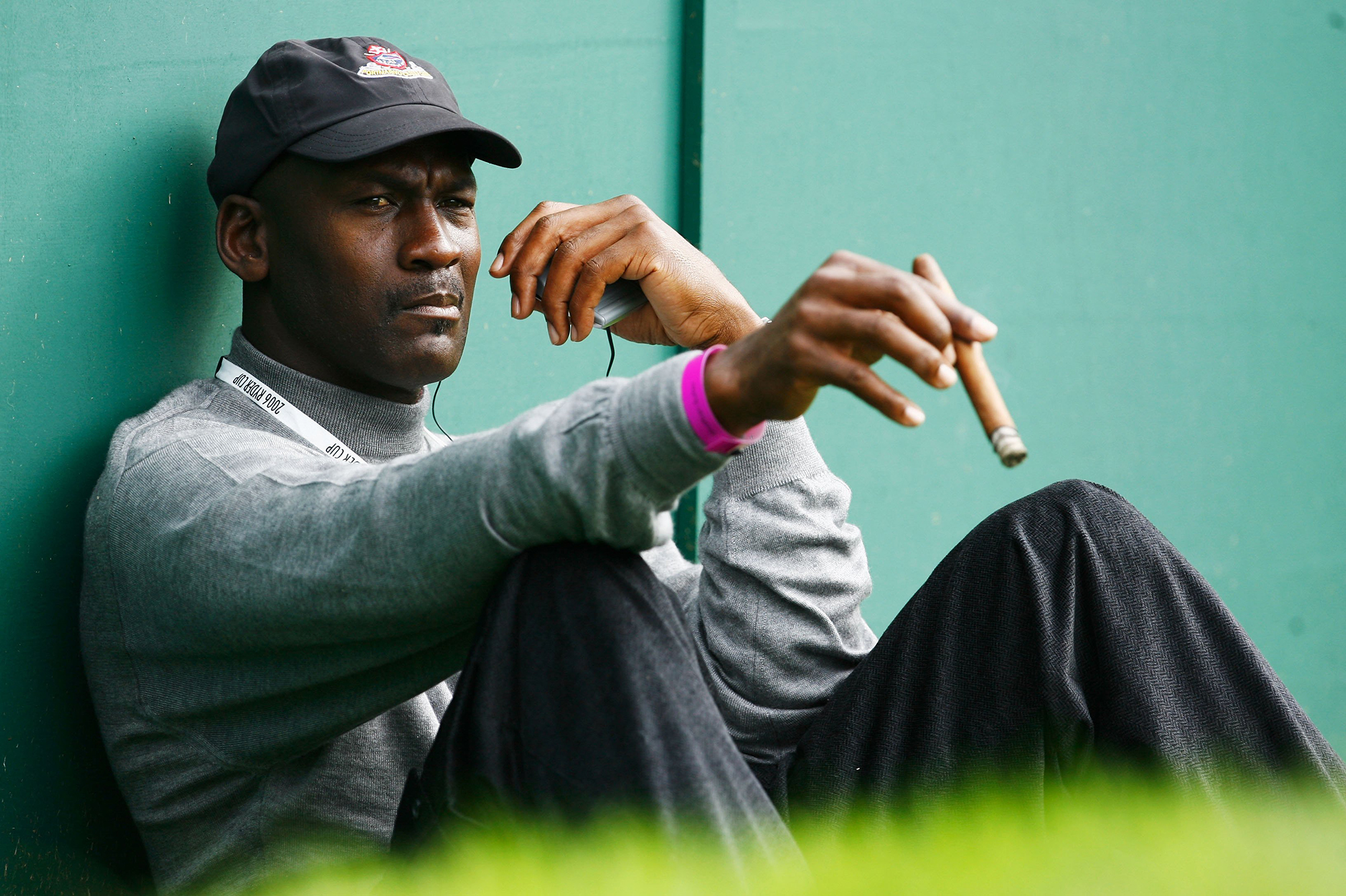 Michael Jordan has been a mainstay along the United States sidelines during the Ryder Cup.