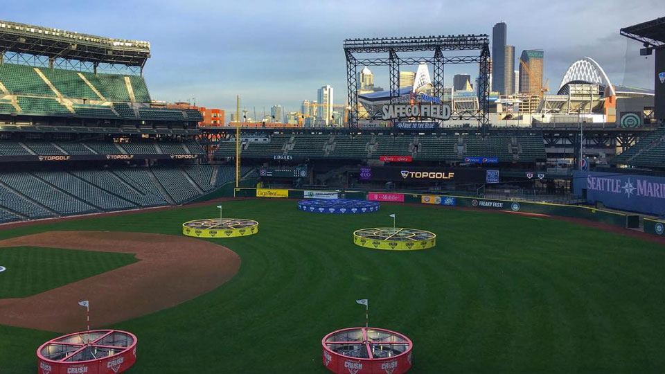 Safeco Field recently received a Topgolf makeover.