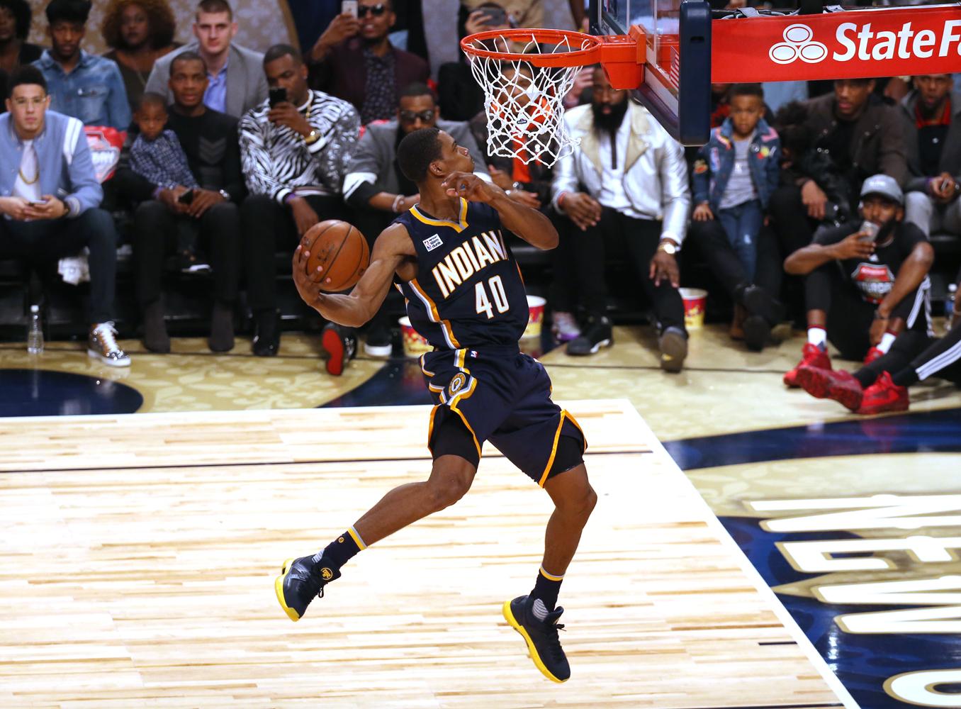 Worn by Glenn Robinson III during the NBA Dunk contest
