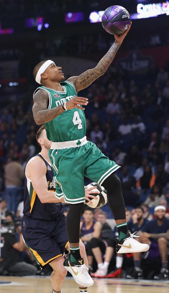 Worn by Isaiah Thomas during the NBA Skills Challenge