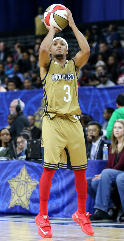 Worn by Lil Romeo in the NBA Celebrity Game