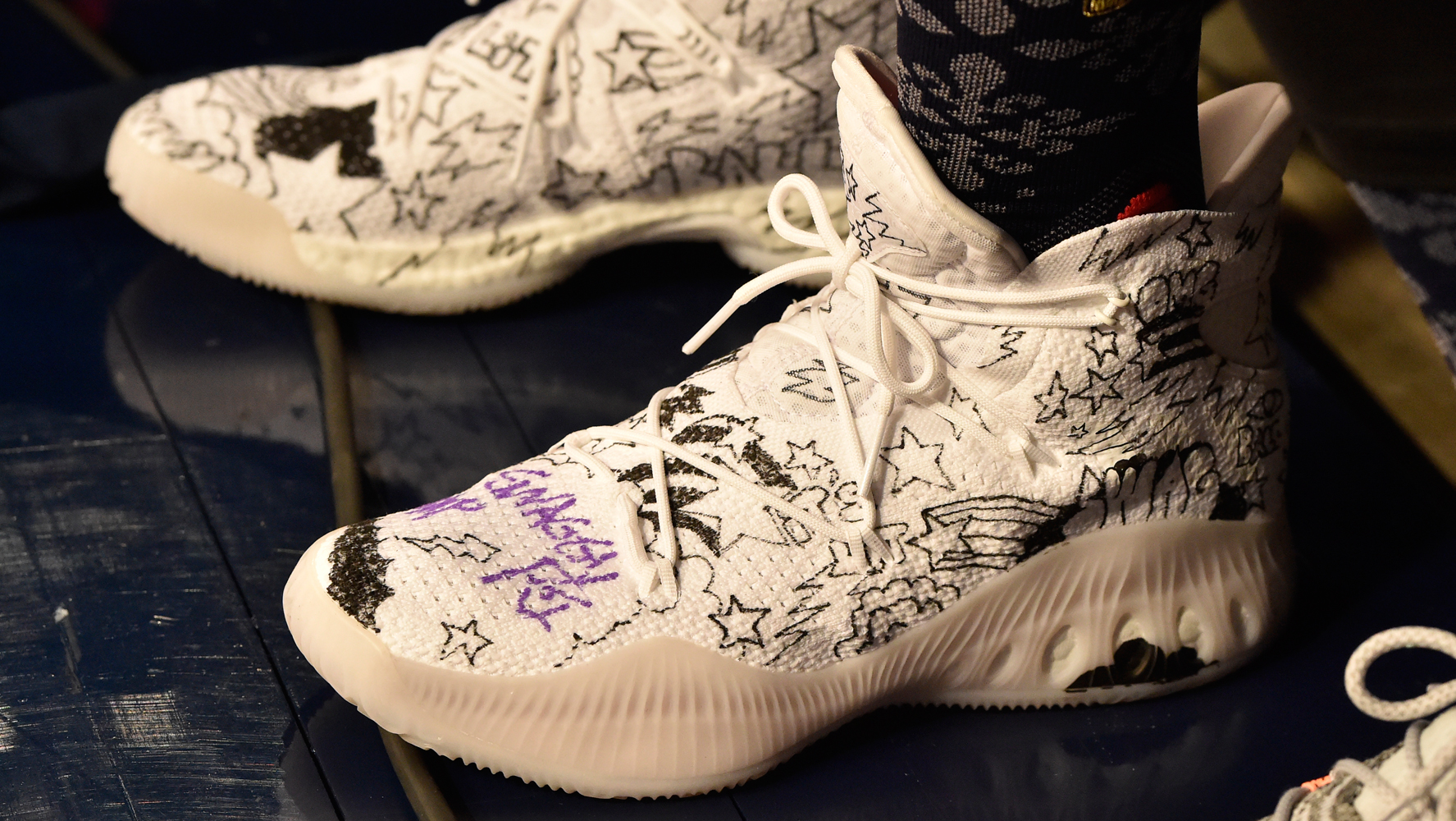 Worn by Nick Young during the NBA Three-Point Contest