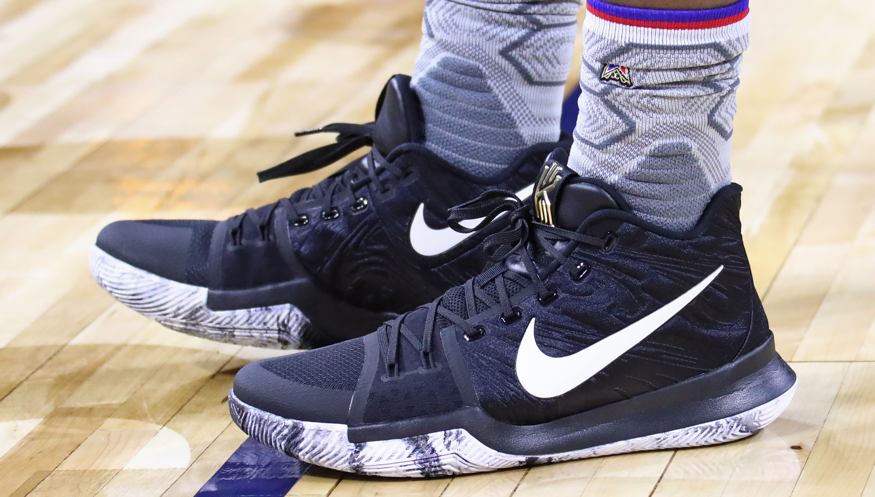 Worn by Kyrie Irving at NBA All-Star practice
