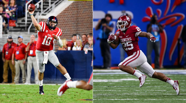 Chad Kelly (l.) and Joe Mixon have been excluded from the combine.