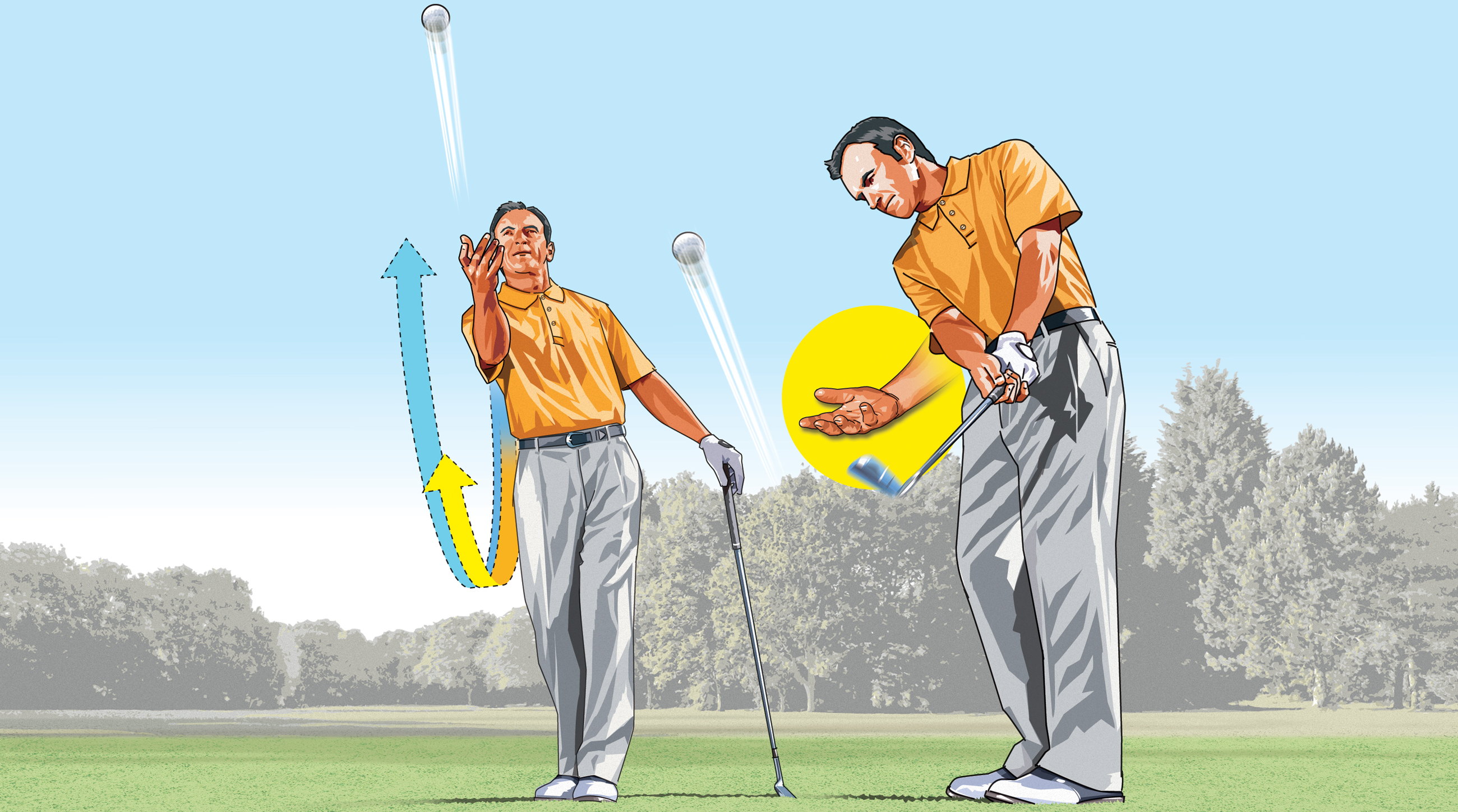 Your hand-eye coordination will help you toss a ball close to the hole. Think of that as you work to pitch it close.