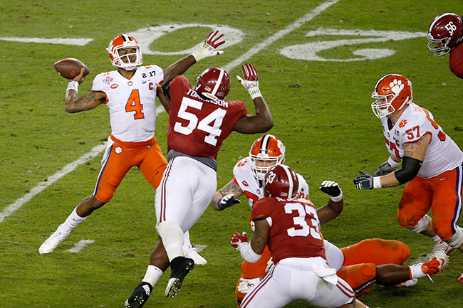 Watson wrapped up a stellar college career by beating Alabama.