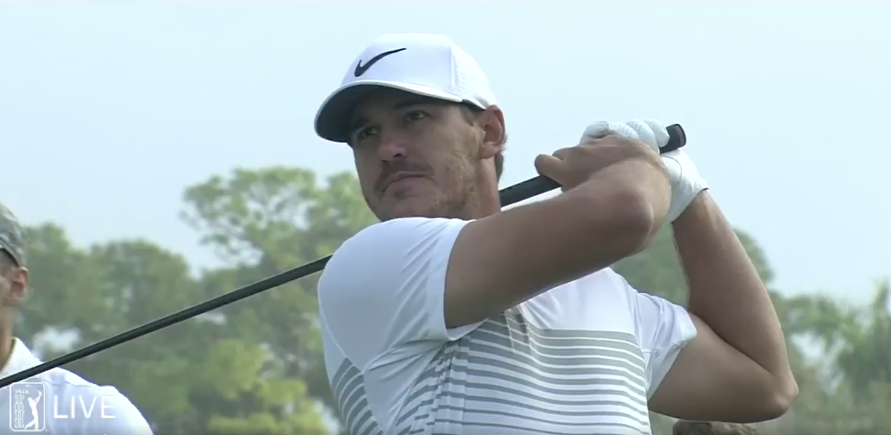 Brooks Koepka snaps his driver during the second round of the Honda Classic.