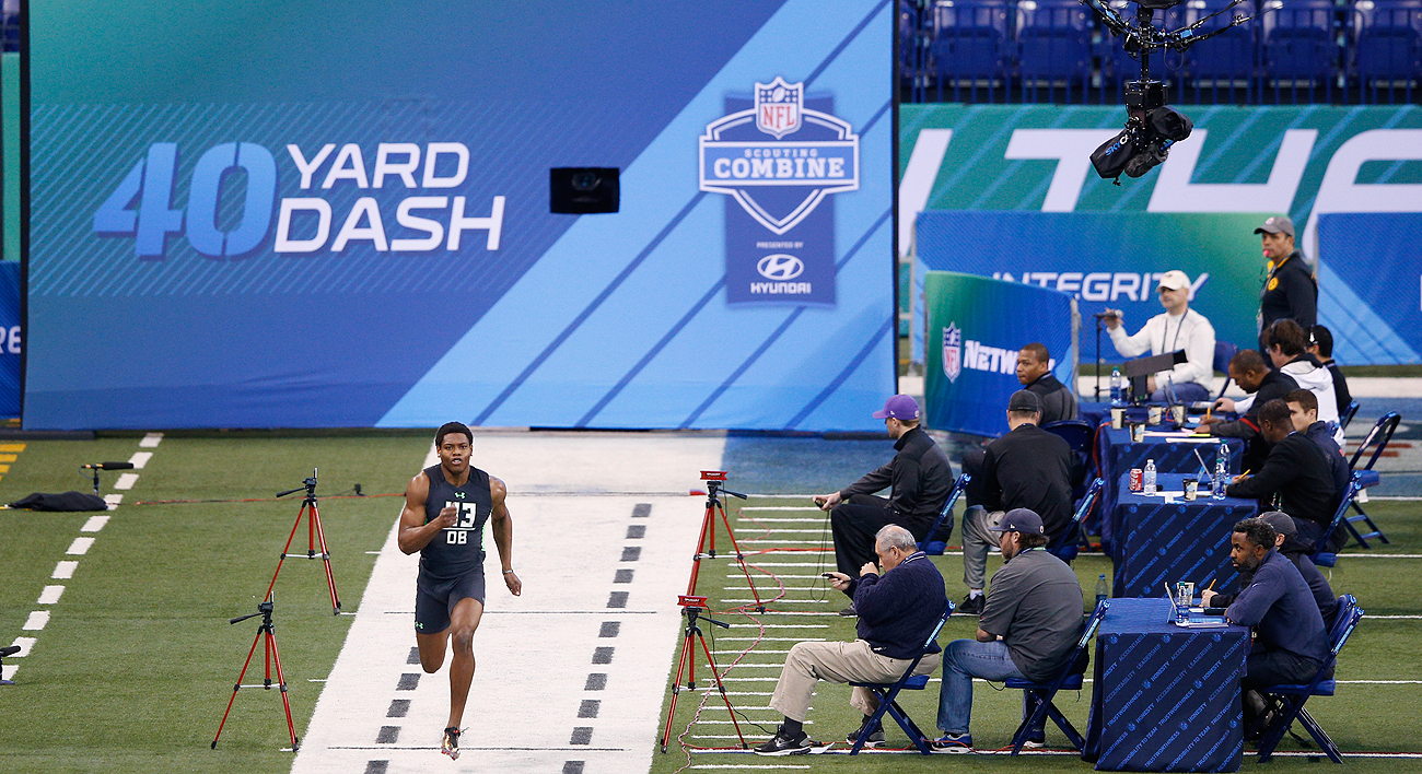 The 40-yard dash continues to be the most popular event at the NFL combine.