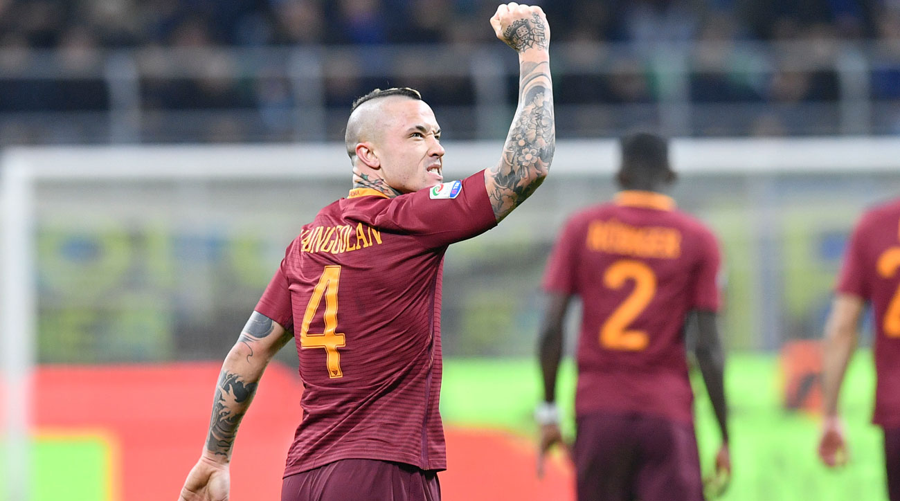 Radja Nainggolan the star in Roma s win over Inter Milan