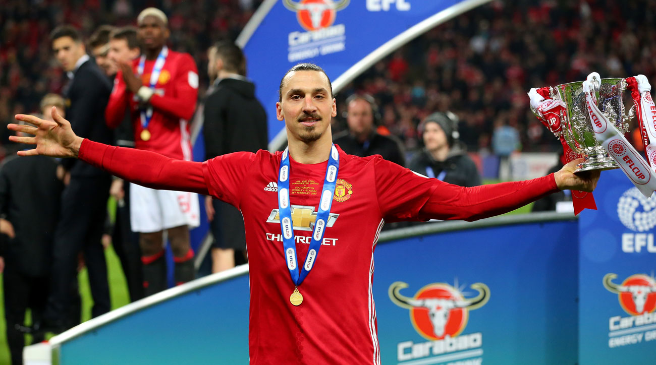 Zlatan Ibrahimovic was the hero of the EFL Cup final for Manchester United