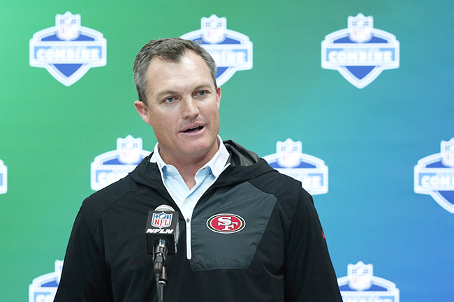 49ers GM John Lynch had nothing but praise for one of the top QB prospects.