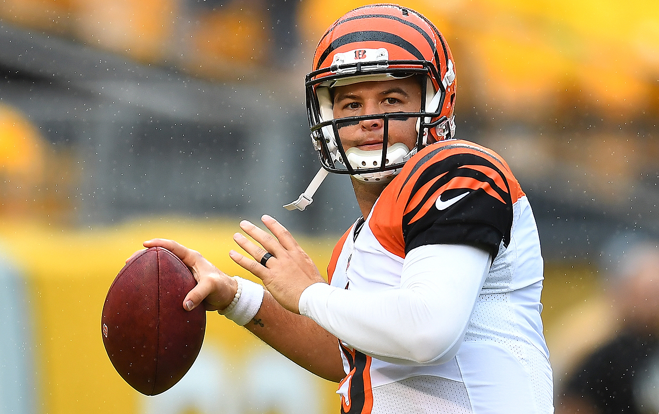 AJ McCarron went 2-1 as a starter for the Bengals in 2015, but only appeared in one game last season.