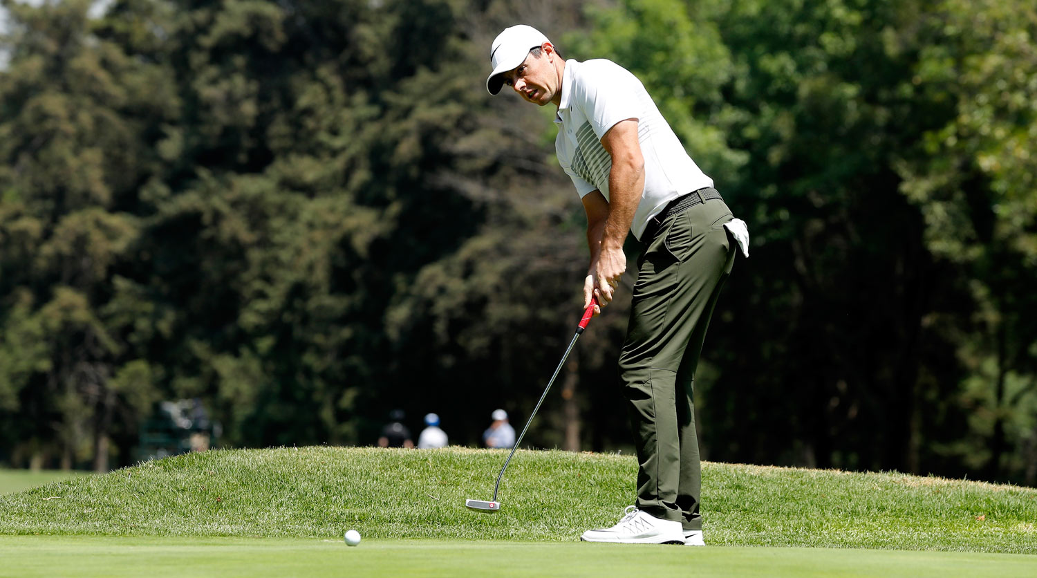 Rory McIlroy putts during the first round of the WGC-Meixco Championship.