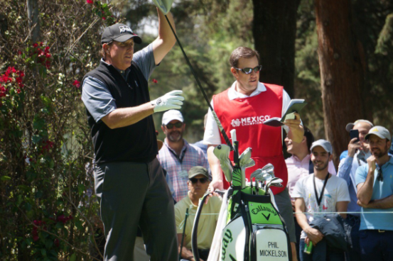 Phil Mickelson's brother was on hand to fill in after caddie Jim 'Bones' Mackay fell ill at the WGC-Mexico Championship.