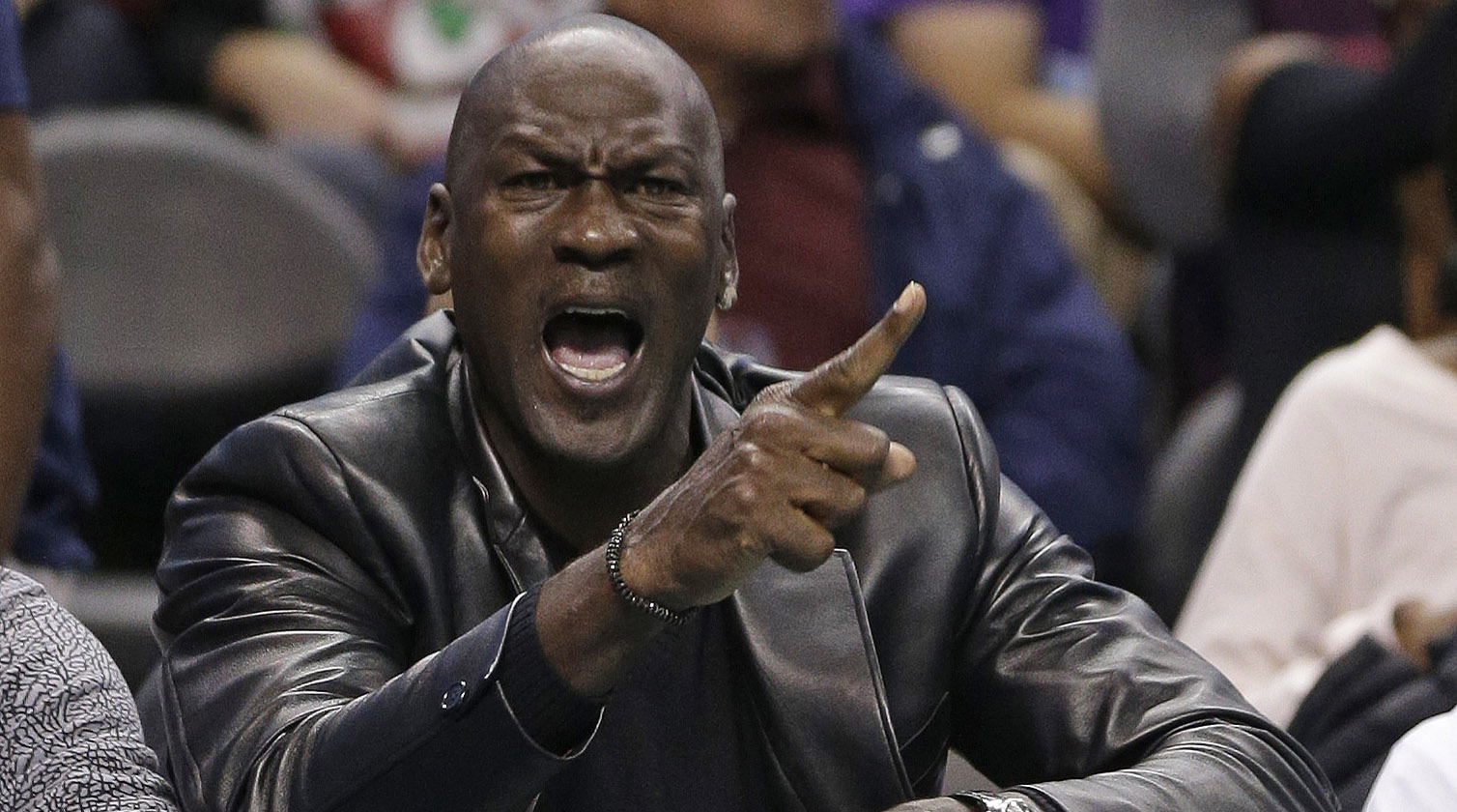 """Michael Jordan said """"the ceiling is the roof"""" during a halftime speech at UNC-Duke."""