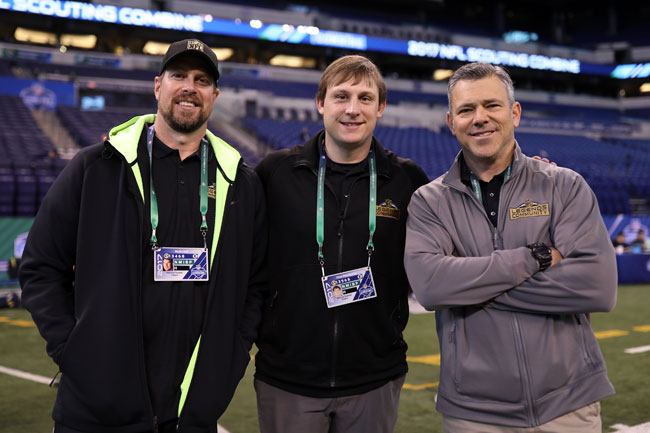 From l. to r., Ryan Leaf, Chad Pennington and Mark Brunnell.