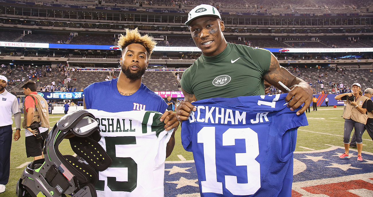 Competitors in the past, Odell Beckham and Brandon Marshall now will be teammates in 2017.