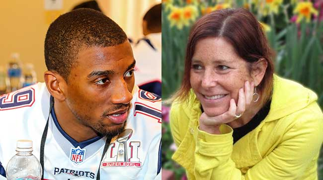 Patriots receiver Malcolm Mitchell was inspired by children's book author Amy Krouse Rosenthal.