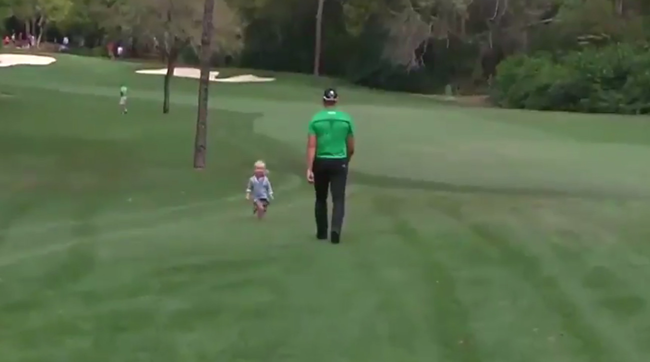 Henrik Stenson was greeted by one of his biggest fans Friday at the Valspar Championship.