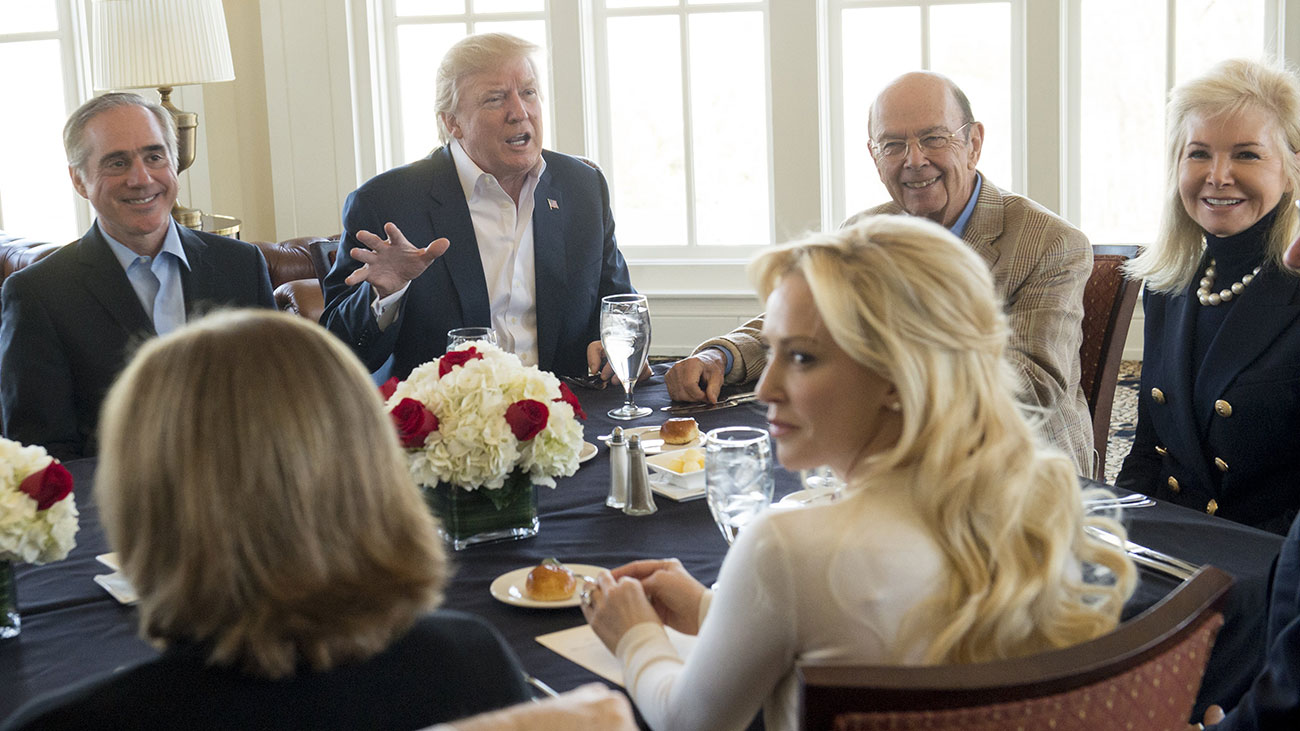 President Donald Trump hosted a 'surprise' partial-Cabinet meeting at his club in Potomac Falls, Virginia.