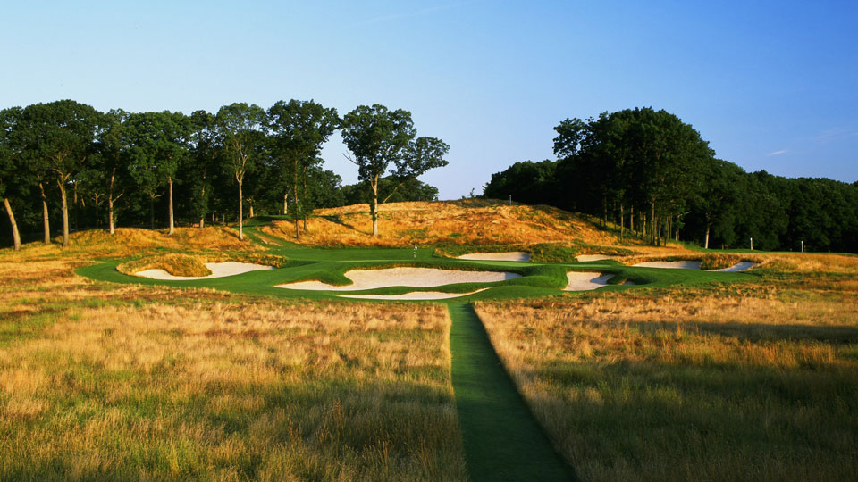 The formidable No. 17 at Bethpage State Park's Black course.