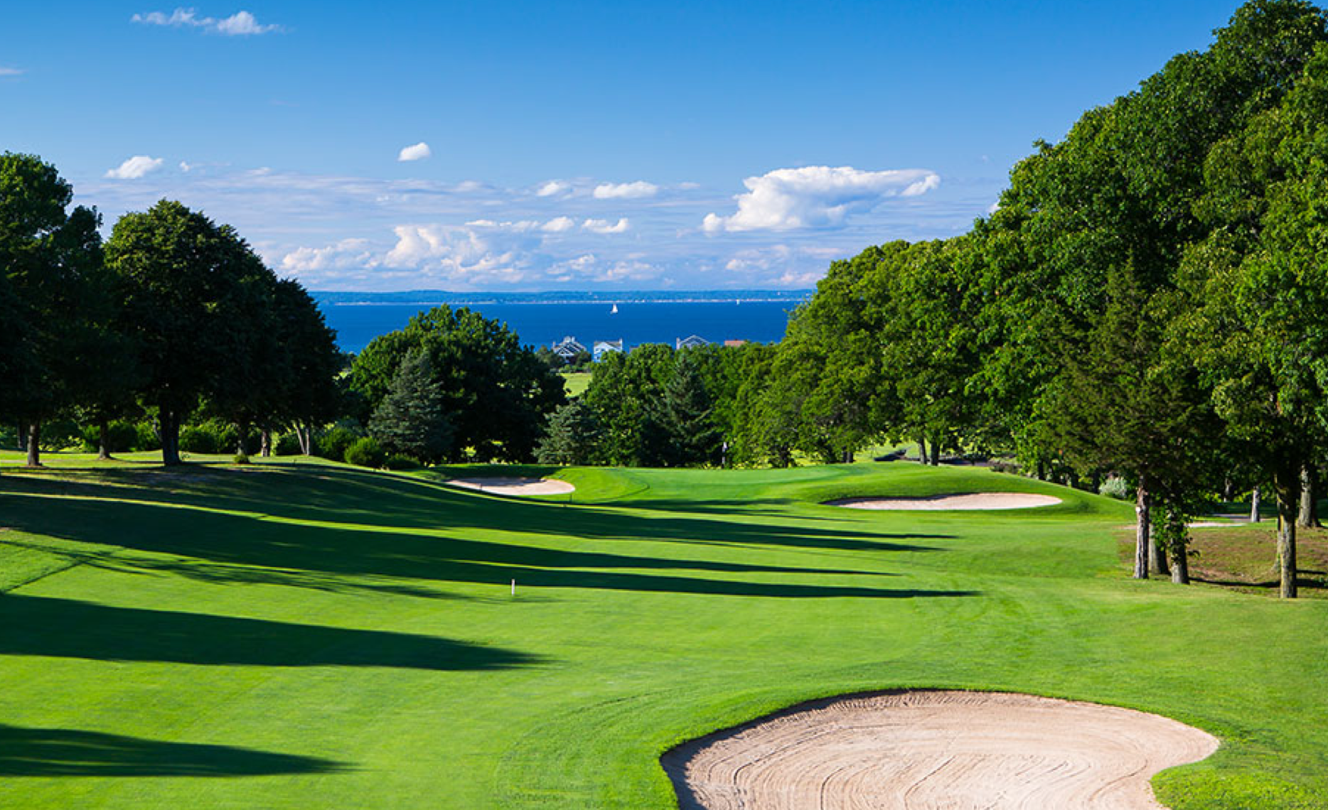 Enjoy views of the Long Island Sound during your round at Crab Meadow in Northport, New York.
