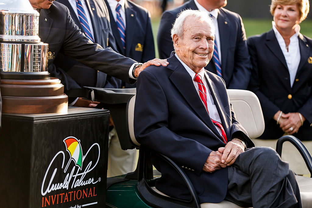 Arnold Palmer at the 2016 Arnold Palmer Invitational, where Jason Day won by one stroke.