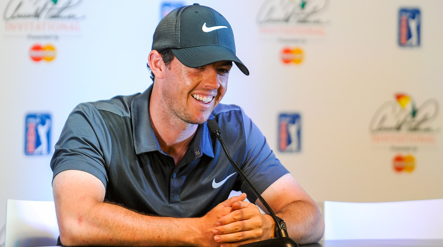 Rory McIlroy speaks to the media prior the 2016 Arnold Palmer Invitational.