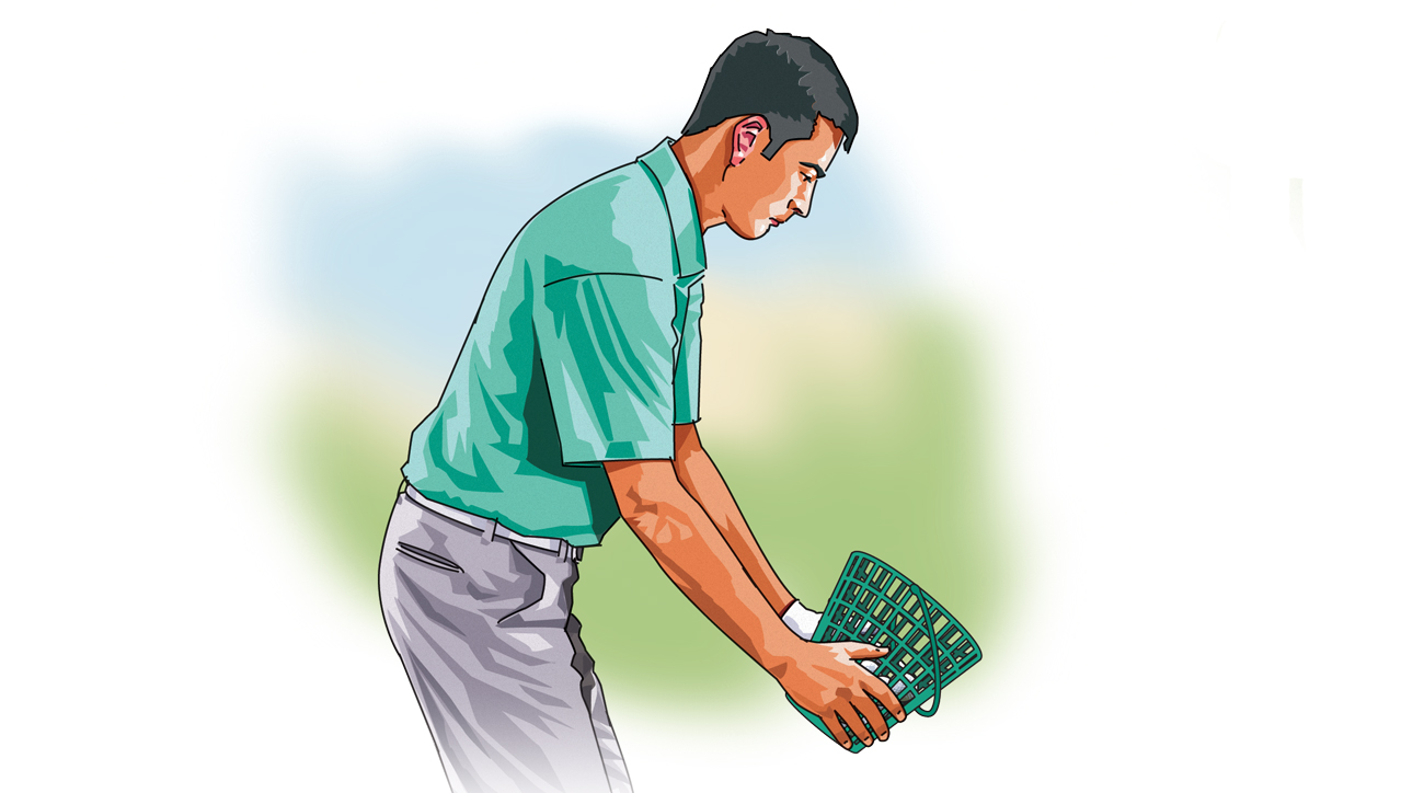 Trying to fix your swing on the range? Put down your clubs and grab the bucket.