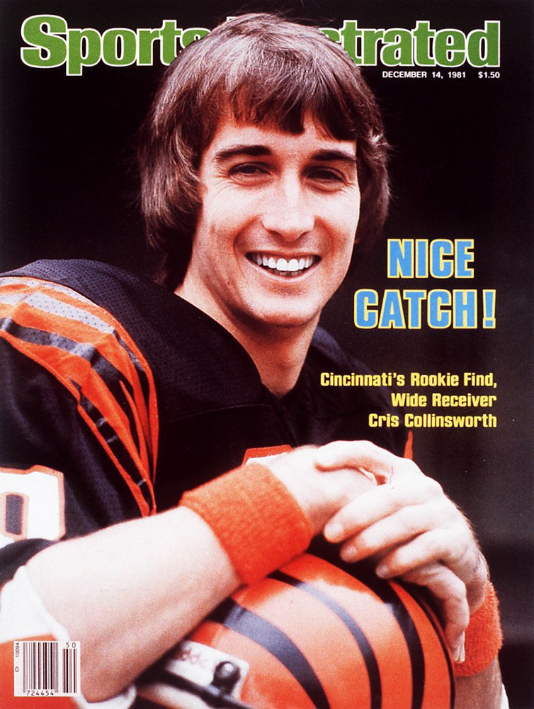 Chris Collinsworth appeared on the cover of SI in 1981.