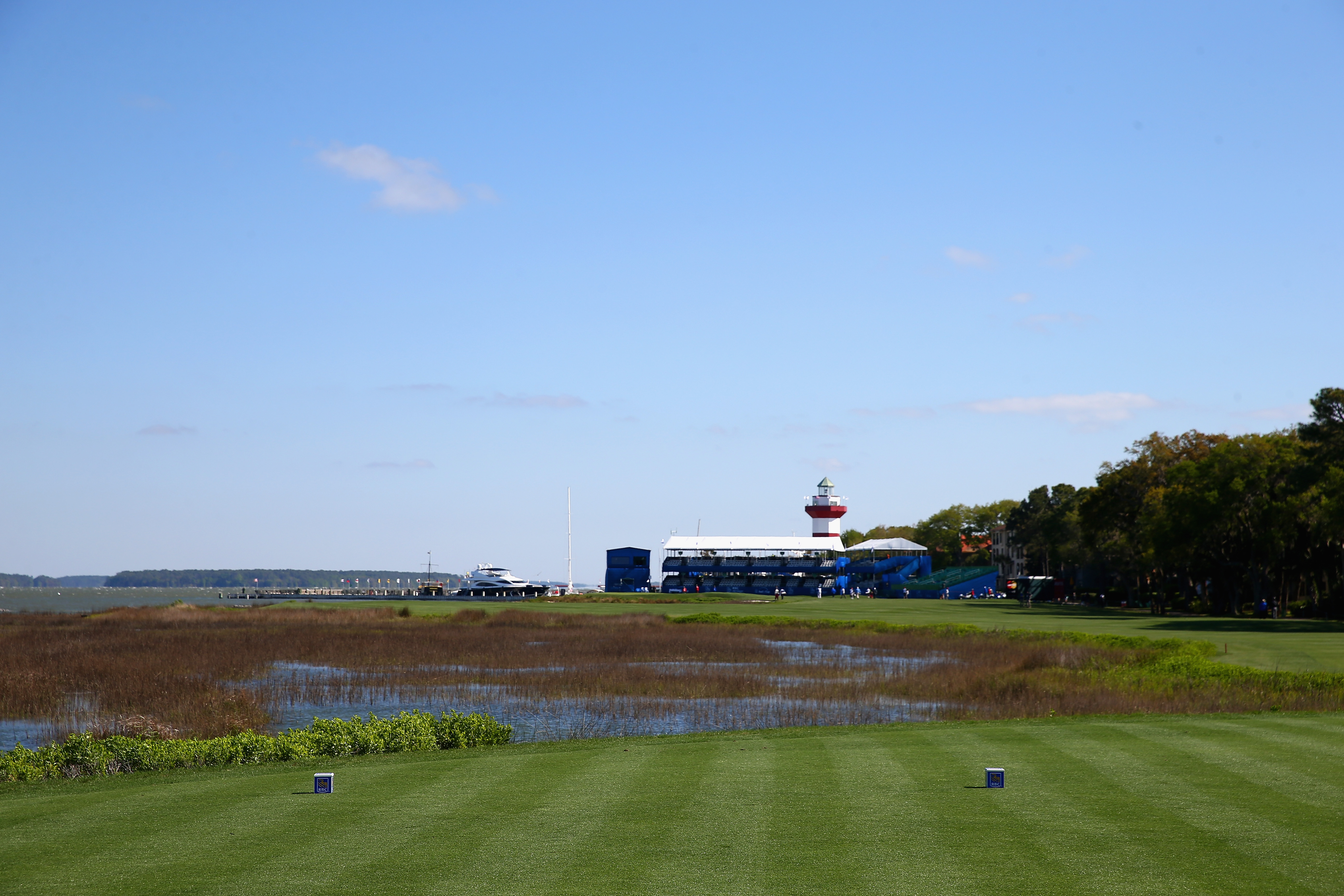 The picture-perfect finishing hole at Harbour Town in Hilton Head Island, South Carolina.