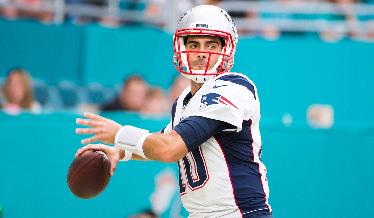 Jimmy Garoppolo has been the subject of trade rumors since the end of the season.