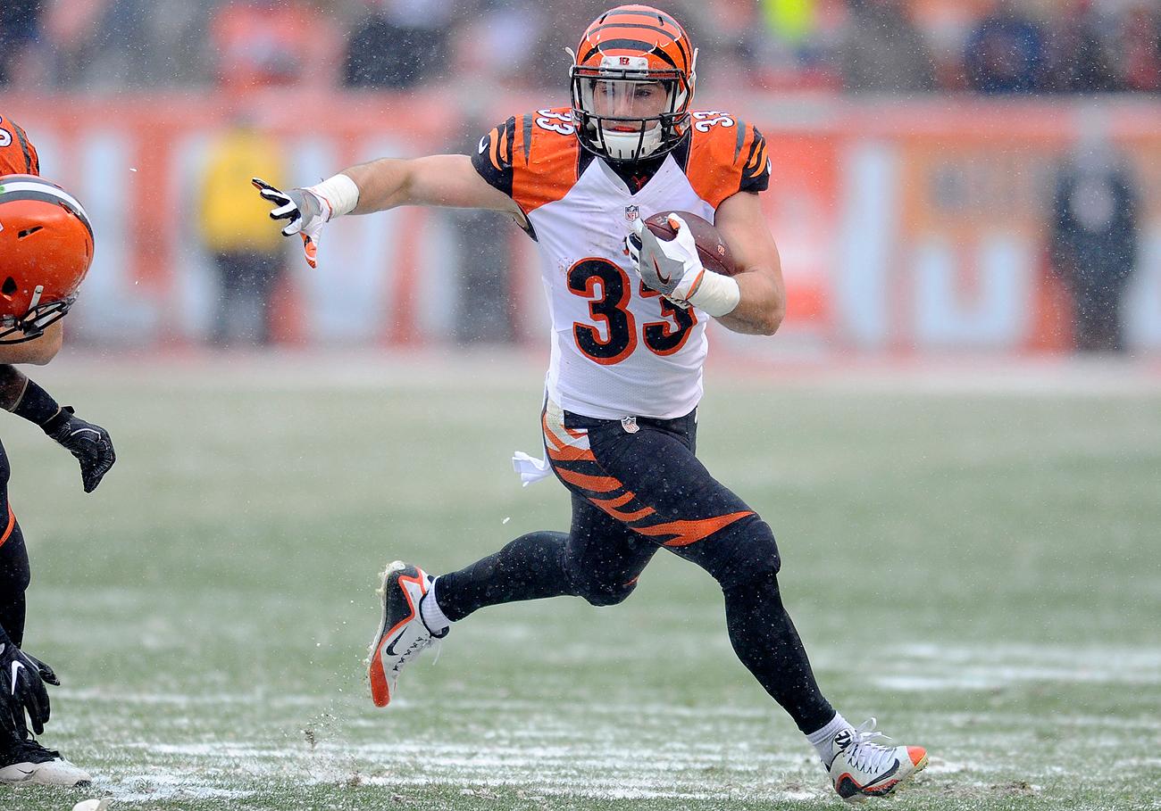 Caught in a numbers game in Cincinnati, versatile running back Rex Burkhead found a new home in New England.