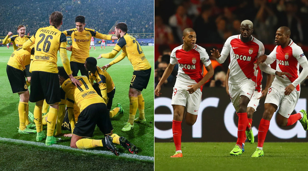 Borussia Dortmund plays Monaco in the Champions League quarterfinals