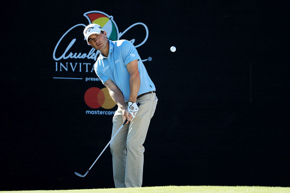 Kevin Kisner plays a shot on the 17th hole during the third round of the Arnold Palmer Invitational.