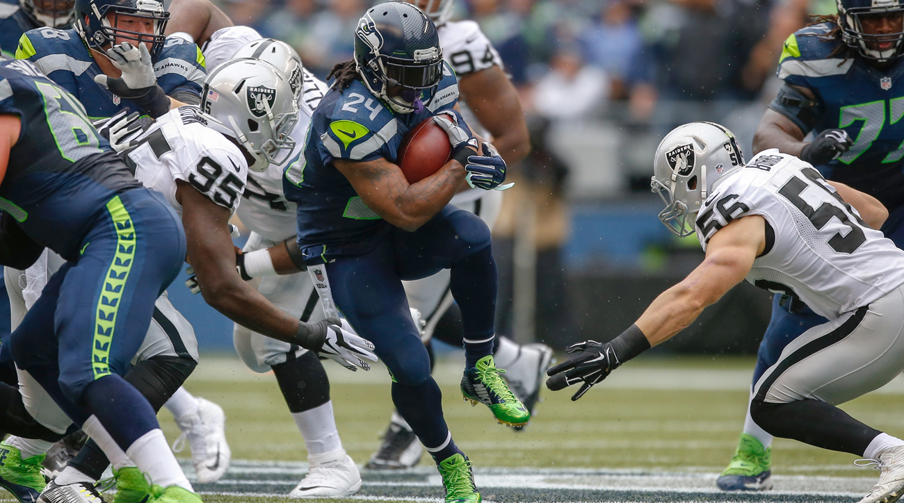 Out of football last season, Marshawn Lynch reportedly is mulling a comeback, and his hometown Raiders need a veteran running back.