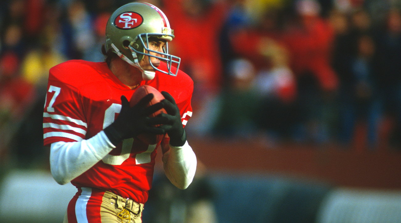 Wide receiver Dwight Clark spent his entire nine-year playing career with the 49ers, winning two Super Bowls (16 and 19) with the franchise.