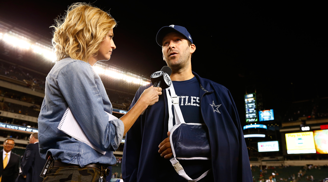 Most industry people believe a career in TV awaits Tony Romo whenever he finishes playing.