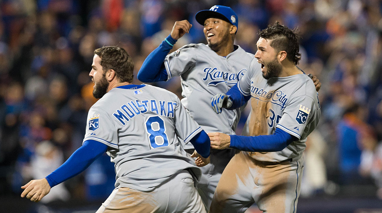 Mike Moustakas, Alcides Escobar and Eric Hosmer, Kansas CIty Royals