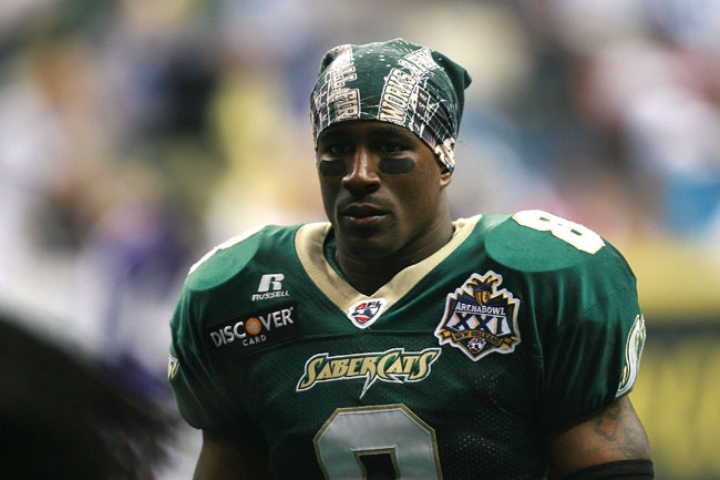 Clevan Thomas during his days playing for the San Jose SaberCats.