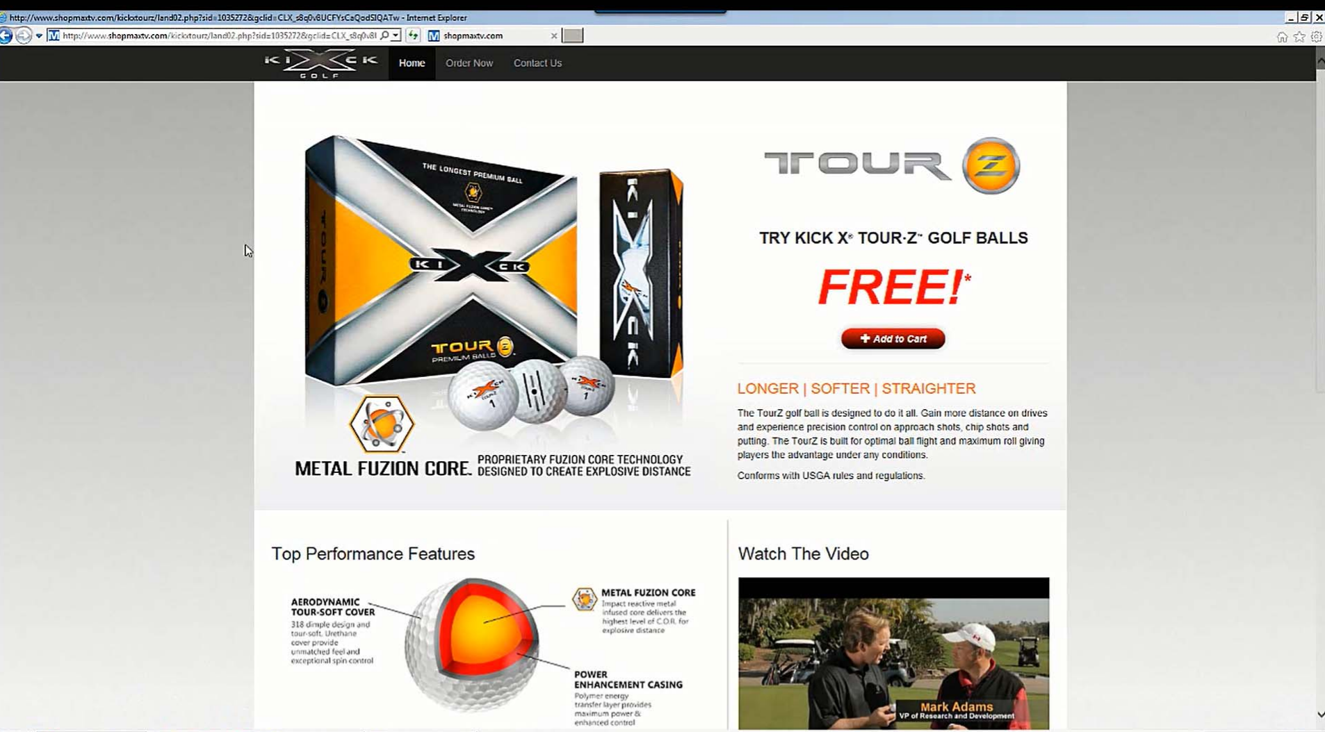 Various golf goods like the Kick X Tour Z Golf Balls were marketed deceptively, according to the FTC.